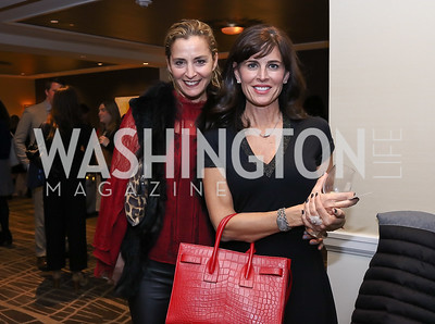 Ami Aronson, Michelle Freeman. Photo by Tony Powell. 2017 Women Rule Summit Kickoff. Four Seasons. December 4, 2017