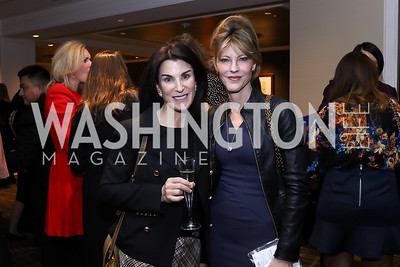 Tracy Bernstein, Robbie Myers. Photo by Tony Powell. 2017 Women Rule Summit Kickoff. Four Seasons. December 4, 2017