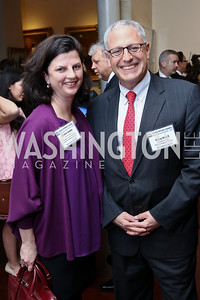 National Geographic VP of Strategic Communications Claire Jones, National Geographic President & CEO Gary Knell. Photo by Tony Powell. 2017 World Affairs Global Education Gala. Ritz Carlton. March 29, 2017