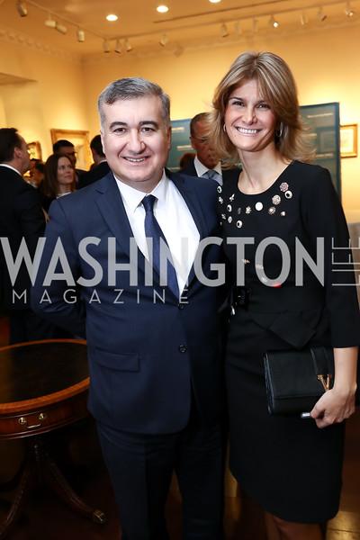 Azerbaijan Amb. Elin Suleymanov and Lala Abdurahimova. Photo by Tony Powell. 2017 World Affairs Global Education Gala. Ritz Carlton. March 29, 2017