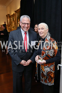 National Geographic President & CEO Gary Knell, Dr. Jane Goodall. Photo by Tony Powell. 2017 World Affairs Global Education Gala. Ritz Carlton. March 29, 2017