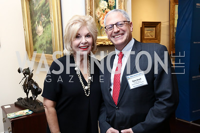 Patricia Harrison, National Geographic President & CEO Gary Knell. Photo by Tony Powell. 2017 World Affairs Global Education Gala. Ritz Carlton. March 29, 2017