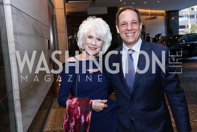 Diane Rehm, JJ Yore. Photo by Tony Powell. 2017 World Affairs Global Education Gala. Ritz Carlton. March 29, 2017