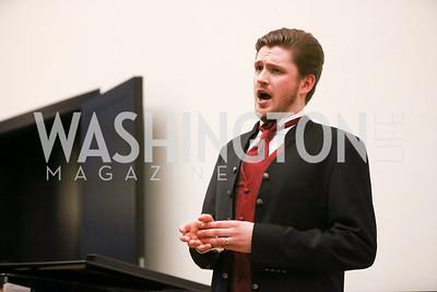Baritone Samuel Haselhorn. Photo by Tony Powell. 2017 YCA Gala. Residence of Germany. April 6, 2017