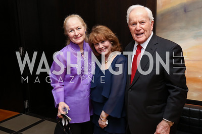 Jessine Monaghan, Ann & Lloyd Hand. Photo by Tony Powell. 2017 YCA Gala. Residence of Germany. April 6, 2017