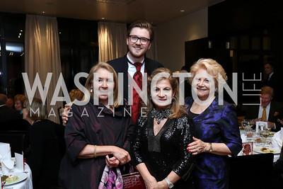 Gilan Corn, Samuel Haselhorn, Annie Totah, Mary Mochary. Photo by Tony Powell. 2017 YCA Gala. Residence of Germany. April 6, 2017