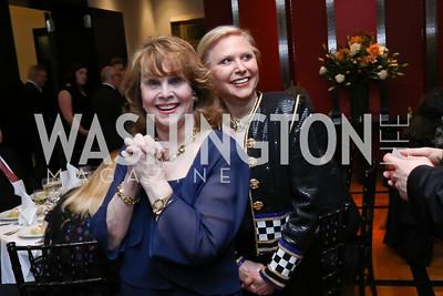 Ann Hand, Olga Ryan. Photo by Tony Powell. 2017 YCA Gala. Residence of Germany. April 6, 2017