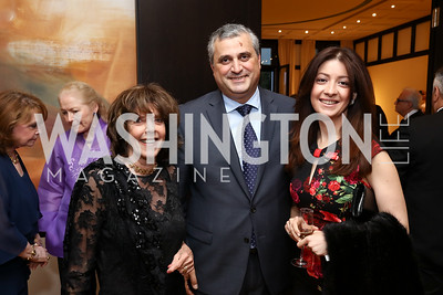 Didi Cutler, Armenia Amb. Grigor Hovhannissian and Victoria Hovhannissian. Photo by Tony Powell. 2017 YCA Gala. Residence of Germany. April 6, 2017