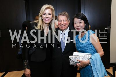 Jane Cafritz, Calvin Cafritz, Nobuko Sasae. Photo by Tony Powell. 2017 YCA Gala. Residence of Germany. April 6, 2017
