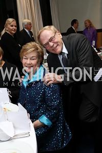 Elizabeth and Jan Lodal. Photo by Tony Powell. 2017 YCA Gala. Residence of Germany. April 6, 2017
