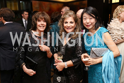 Didi Cutler, Annie Totah, Nobuko Sasae. Photo by Tony Powell. 2017 YCA Gala. Residence of Germany. April 6, 2017