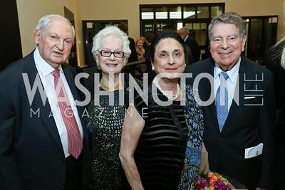 Eliezer Benbassat, Miriam Benbassat, Susan Wadsworth, Calvin Cafritz. Photo by Tony Powell. 2017 YCA Gala. Residence of Germany. April 6, 2017