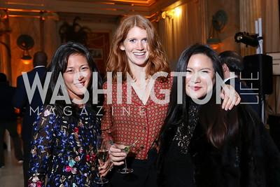 Anne Tsai Bennett, Lara Inskip, Leah Frelinghuysen. Photo by Tony Powell. 2018 YGL. Union Station. November 10, 2017