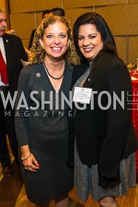 Congresswoman Debbie Wasserman Schultz, Mari Corugedo. Photo by Alfredo Flores. LULAC 20th Annual LULAC National Legislative Awards Gala. Grand Hyatt. February 15, 2017