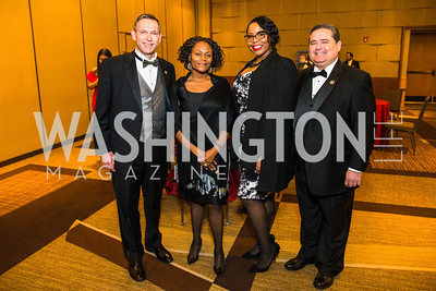 Brent Wilkes, Lillian Singh, Myisha Gatson, Roger Rocha. Photo by Alfredo Flores. LULAC 20th Annual LULAC National Legislative Awards Gala. Grand Hyatt. February 15, 2017