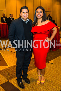 Antonio Tijerino, Maricela Huerta. Photo by Alfredo Flores. LULAC 20th Annual LULAC National Legislative Awards Gala. Grand Hyatt. February 15, 2017