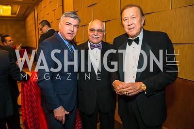 Alberto Senior, Jose Ruano, Tom Flores. Photo by Alfredo Flores. 20th Annual LULAC National Legislative Awards Gala. Grand Hyatt. February 15, 2017