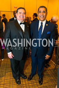 Roger Rocha, Congressman Adriano Espaillat. Photo by Alfredo Flores. LULAC 20th Annual LULAC National Legislative Awards Gala. Grand Hyatt. February 15, 2017