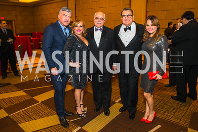 Alberto Senior, Elizabeth Berman, Jose Ruano, Roland Ramirez, Rosemary Camillo. Photo by Alfredo Flores. 20th Annual LULAC National Legislative Awards Gala. Grand Hyatt. February 15, 2017
