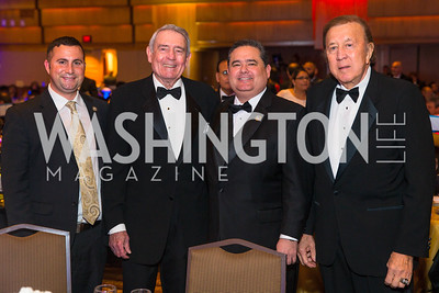 Congressman Darren Soto, Dan Rather Roger Rocha, Tom Flores. Photo by Alfredo Flores. LULAC 20th Annual LULAC National Legislative Awards Gala. Grand Hyatt. February 15, 2017