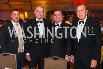 Congressman Darren Soto, Dan Rather Roger Rocha, Tom Flores. Photo by Alfredo Flores. LULAC 20th Annual LULAC National Legislative Awards Gala. Grand Hyatt. February 15, 2017