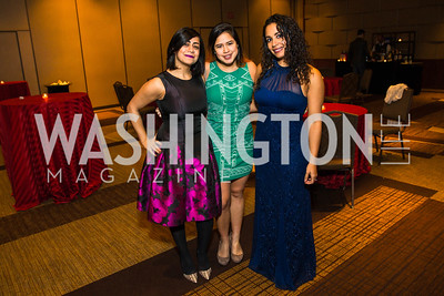 Ameesha Sampat, Gabi Huesca, Erin DarBouze. Photo by Alfredo Flores. LULAC 20th Annual LULAC National Legislative Awards Gala. Grand Hyatt. February 15, 2017