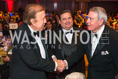 Tom Flores, Roger Rocha, Dan Rather. Photo by Alfredo Flores. LULAC 20th Annual LULAC National Legislative Awards Gala. Grand Hyatt. February 15, 2017