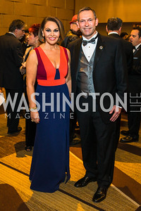 Brent Wilkes, María Elena Salinas. Photo by Alfredo Flores. LULAC 20th Annual LULAC National Legislative Awards Gala. Grand Hyatt. February 15, 2017