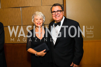 Barbara Flores, Roland Ramirez. Photo by Alfredo Flores. 20th Annual LULAC National Legislative Awards Gala. Grand Hyatt. February 15, 2017