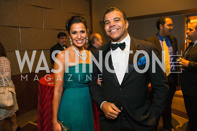 Kenya Pierce, Jerry Pierce Jr. Photo by Alfredo Flores. LULAC 20th Annual LULAC National Legislative Awards Gala. Grand Hyatt. February 15, 2017