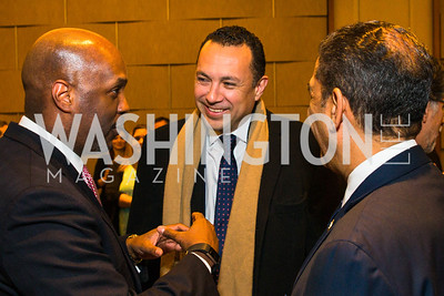 Cid Wilson, Hector Sanchez, Congressman Adriano Espaillat. Photo by Alfredo Flores. LULAC 20th Annual LULAC National Legislative Awards Gala. Grand Hyatt. February 15, 2017