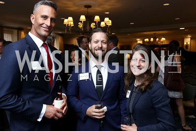 Patrick Francescon, Patrick Farace, Sherri Francescon. Photo by Tony Powell. Sixth Annual Tribute to Veterans. Capitol Hill Club. June 27, 2017