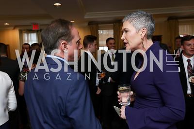 Veterans Affairs Sec. David Shulkin, Jennifer Griffin. Photo by Tony Powell. Sixth Annual Tribute to Veterans. Capitol Hill Club. June 27, 2017