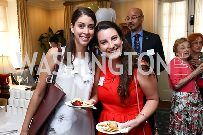 Gabi Valentine, Margaret Given. Photo by Tony Powell. Sixth Annual Tribute to Veterans. Capitol Hill Club. June 27, 2017