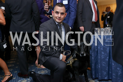 Corporal Jeff DeYoung and Cena. Photo by Tony Powell. Sixth Annual Tribute to Veterans. Capitol Hill Club. June 27, 2017