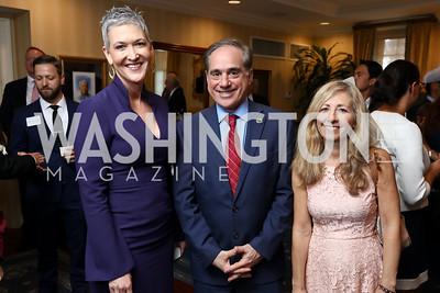 Jennifer Griffin, Sec. David Shulkin and Merle Shulkin. Photo by Tony Powell. Sixth Annual Tribute to Veterans. Capitol Hill Club. June 27, 2017