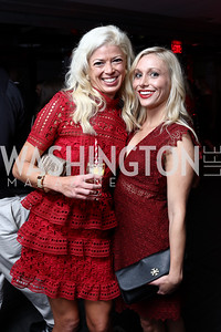 Hillary Greenwald, Sarah Brutschy. Photo by Tony Powell. 8th Annual Paint the Town Red. Wonderbread Factory. October 13, 2017