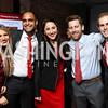 Gabriella Bender, Ehud Hakakian, Eliza Kanovsky, Doug Kanovsky, Jake Bender. Photo by Tony Powell. 8th Annual Paint the Town Red. Wonderbread Factory. October 13, 2017