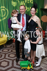 Sabrina, Ethan, Sawyer, Lindsey, and Elizabeth Drath. Photo by Tony Powell. 8th Annual Wacky and Whimsical Tea for THEARC. Ritz Carlton. March 12, 2017