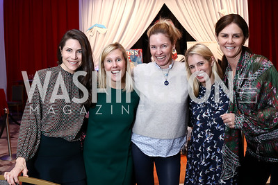 Katelin Haney, Catherine Tracy, Catherine Kaplan, Lauren Hilyard, Mae Haney Grennan. Photo by Tony Powell. 8th Annual Wacky and Whimsical Tea for THEARC. Ritz Carlton. March 12, 2017