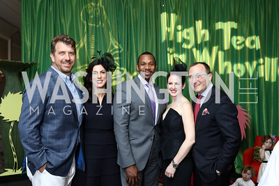 Co-Chairs John and Megan Paleologos, THEARC Exec. Dir. Rahsaan Bernard, Co-Chairs Ethan and Lindsey Drath. Photo by Tony Powell. 8th Annual Wacky and Whimsical Tea for THEARC. Ritz Carlton. March 12, 2017