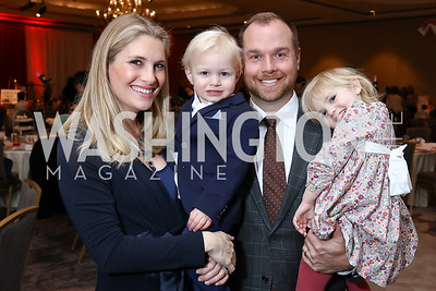 Ashley Taylor Bronczek, Brody Bronczek, Matt Bronczek, and Birdie Bronczek. Photo by Tony Powell. 8th Annual Wacky and Whimsical Tea for THEARC. Ritz Carlton. March 12, 2017