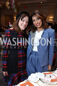 Marcella Aburdene, Samar Hussein Langhorne. Photo by Tony Powell. 8th Annual Wacky and Whimsical Tea for THEARC. Ritz Carlton. March 12, 2017