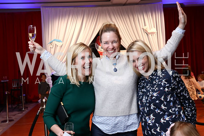 Catherine Tracy, Catherine Kaplan, Lauren Hilyard. Photo by Tony Powell. 8th Annual Wacky and Whimsical Tea for THEARC. Ritz Carlton. March 12, 2017