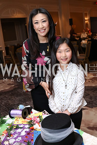 Eun Yang and Carys Kang. Photo by Tony Powell. 8th Annual Wacky and Whimsical Tea for THEARC. Ritz Carlton. March 12, 2017