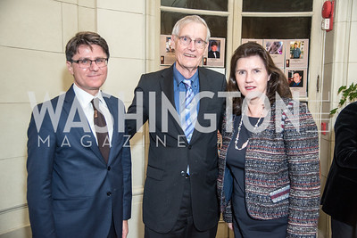Ambassador Pierre Clive Agius – Embassy of Malta, Dr. Bob DuPont,Board Member Mentor Foundation USA and Ambassador Sylvie Lucas – Embassy of Luxembourg, Ambassadors for Drug-Free Youth, Mentor Foundation USA, at the Meridian House, November 9, 2017.  Photo by Ben Droz.
