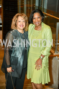 Loretta Polk and Lavern Chatman, Arena Stage Wine Auction, October 3, 2017, Photo by Ben Droz