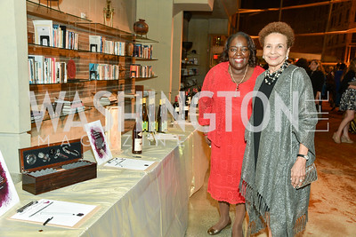 Sandra E. Taylor and Joyce Moorehead, Arena Stage Wine Auction, October 3, 2017, Photo by Ben Droz