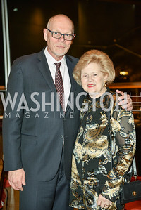 Edgar Dobie, Beth Newburger Schwartz, Arena Stage Wine Auction, October 3, 2017, Photo by Ben Droz