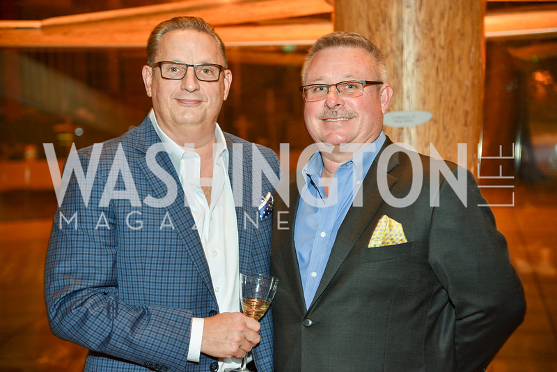 John Edelmann and Jeff Love, Arena Stage Wine Auction, October 3, 2017, Photo by Ben Droz